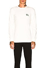 Stussy Basic Long Sleeve Tee in Natural