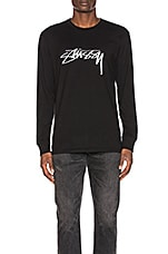 Stussy Smooth Stock L/S Tee in Black