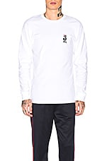 Stussy S Crown Long Sleeve Tee in White