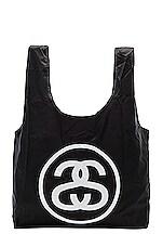 Stussy SS Link Fold Up Bag in Black