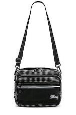Stussy Ripstop Nylon Shoulder Bag in Black