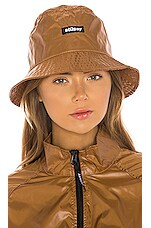 Stussy Langley Shiny Bucket Hat in Tan