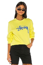 Stussy Stock Sweatshirt in Lemon
