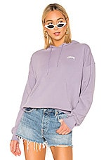 Stussy Violet French Terry Hoodie in Lavender