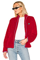 Stussy Cruzer Sherpa Jacket in Red