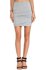 Shirred Skirt in Heather Gray