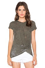 Burnout Gathered Front Tee in Fern