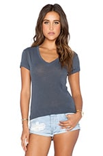 V Neck Tee in Charcoal