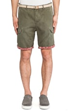 Cargo Short in Olive Green
