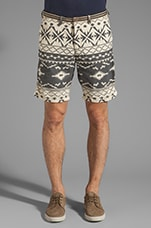 Aztec Print Short in Black/White