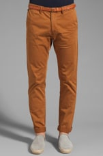 Belted Chino Pant in Walnut