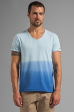 Ombre V-Neck Tee in Blue