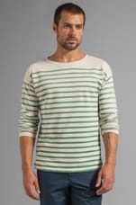 Striped L/S Sailor Shirt in Green