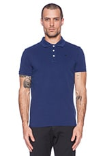 Classic Garment Dyed Pique Polo in Cobalt