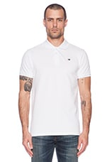 Classic Garment Dyed Pique Polo in White