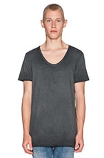 Extra Long Lightweight Jersey Deep V-Neck Tee in