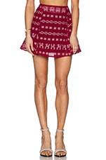 Pina Circle Skirt in Maroon