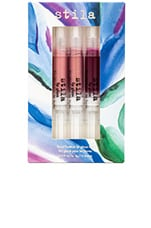 Floral Fixation Lip Glaze Trio in Seashell & Hibiscus & Tropical Punch