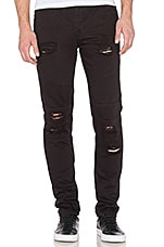 Distressed Panel Denim en Noir