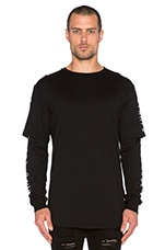 Layered L/S Tee in Black
