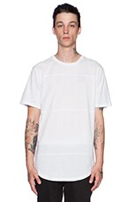 Essential Panel Tee in White