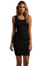 Stretta Chari Tank Dress in Black/Shiny
