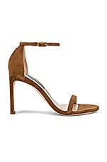 Stuart Weitzman Nudistsong Heel in Basket Brown