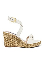 Stuart Weitzman Summer Wedge in Cream