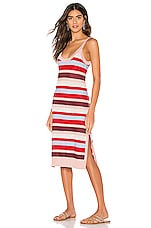 Suboo Midsummer Knitted Stripe Midi Dress in Multi