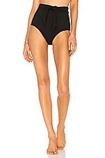 Suboo High Waist Bikini Bottom in Black