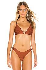 Suboo Gaby Ring Front Triangle Bikini Top in Copper