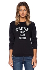 So Last Night Sweatshirt in Black