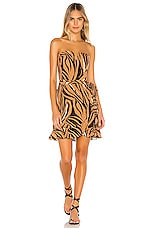 Sun Becomes Her Bustier Wrap Dress in Cafe Zebra