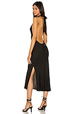 Sun Becomes Her Waterfall Midi Dress in Black