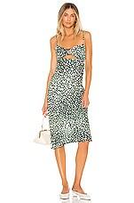 Sun Becomes Her Villa Midi Dress in Hunter Leopard