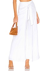 Sun Becomes Her Marbella Wrap pant in Blanco