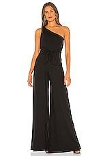 Susana Monaco One Shoulder Jumpsuit in Black