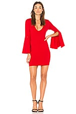 Susana Monaco Split Sleeve Dress in Perfect Red