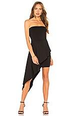 Susana Monaco Strapless Overlay Dress in Black