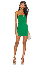 Susana Monaco V Plunge Dress in Emerald