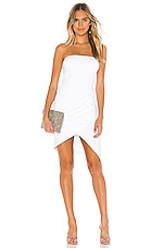 Susana Monaco Strapless Side Pleat Dress in Sugar