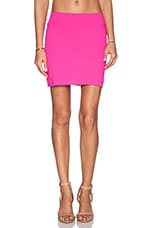 Slim Mini Skirt in Pink Glo