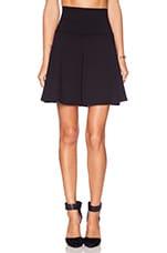 High Waist Flare Skirt in Black