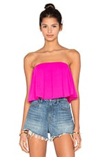 TOP CROPPED PLEATED