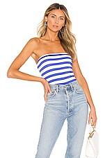 Susana Monaco Tube Top in Blue & White Stripe