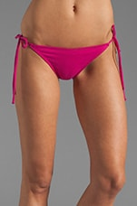 Tis String Bikini Bottom in Fuchsia