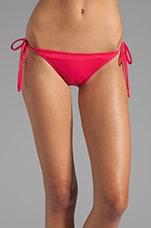 Tie String Bikini Bottom in Hibiscus