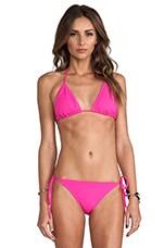 Tie String Bikini Top in Pink Glo