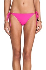 Tie String Bikini Bottom in Pink Glo