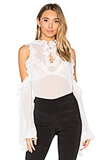 Clover Sheer Top in White